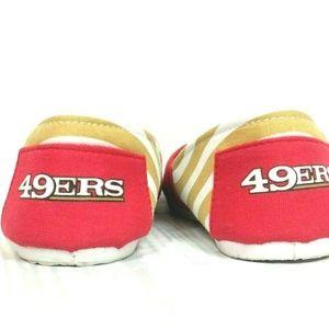 5f8f0c04 San Francisco 49ers 7-8 Flats Fan Apparel Striped